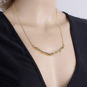 Gold Plated Thick Chain Pendant Chokers Necklace