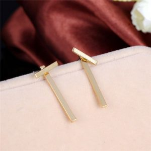 Letter T Punk Earrings