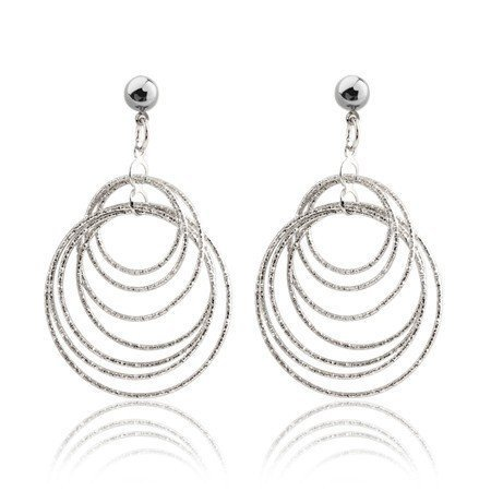 Double Round Stud Earring