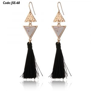 Vintage Triangle Long Tassel Earrings