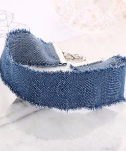 Jeans Choker Necklace