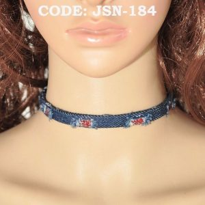 Blue Denim Chocker in Jeans Material