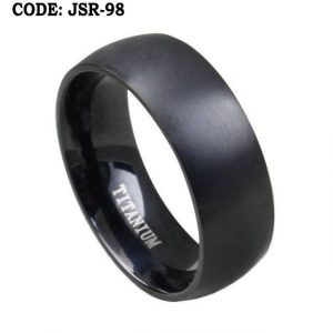 Plain Black Ring