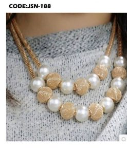 Multi layers Chain Pearl Metal Ball Pendants