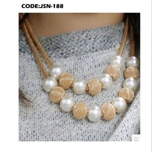 Multi layers Chain Pearl Metal Ball Pendants
