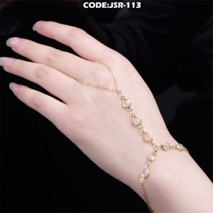 Slave Chain Alloy Crystal Finger Bracelet Hand Chain