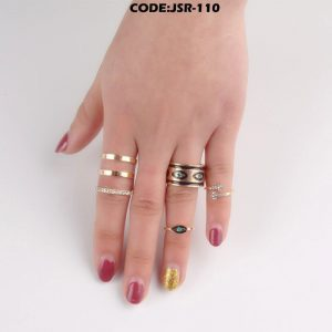 Hollow Out Finger Knuckle Rings Set