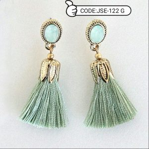 Leaf Long Drop Dangle Earrings