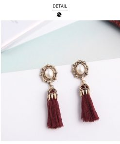 Rhinestones Tassel Earrings