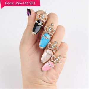 Turkish Flower Midi Rings Set
