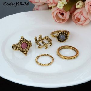 4 Pieces Enamel Fingertip Nail Rings