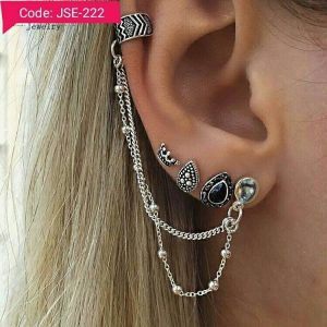 7 Pieces Vintage Trendy Antique Silver Earcuff