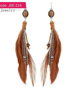 Bohemia Feather Tassel Dangle Earring