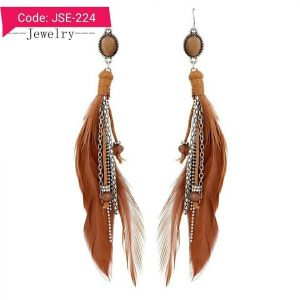 Bohemia Feather Tassel Dangle Earring