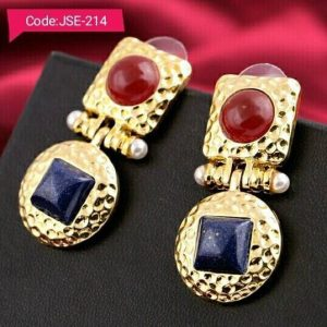New Square Alloy Small Color Earrings For Bridal