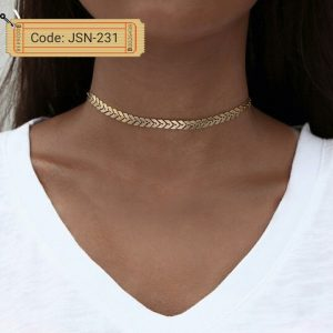Gold Close Neck Choker Necklace