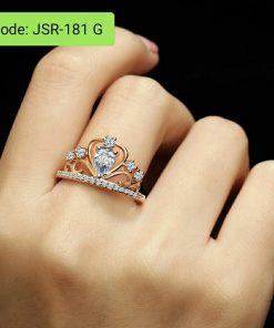 Princess Queen Tiara Crown Ring