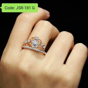 Princess Queen Tiara Crown Ring