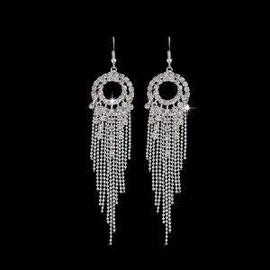 Multi Styles Silver Long Earrings