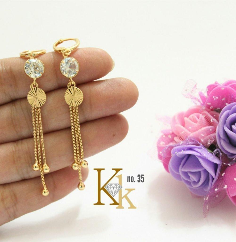 Daily Wear Earrings Gold Designs Kk 35