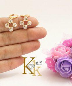 Daily Wear Earrings Gold Designs KK-20.3