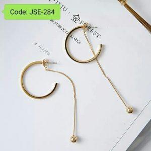 Big Circle Simulated Pearl Delicate Earring