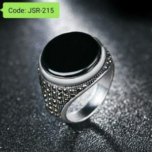 Anti Allergy Black Acrylic Party Rings With Black Stone