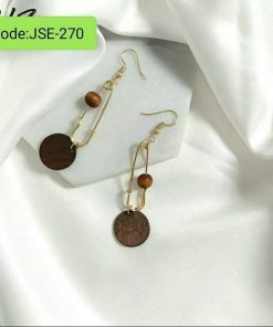 Long Simple Circle Round Shell Earrings