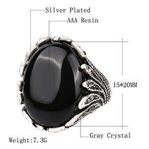 Vintage Black Rings For Men