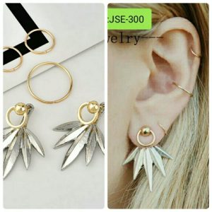 Double Triangles Stud Earrings