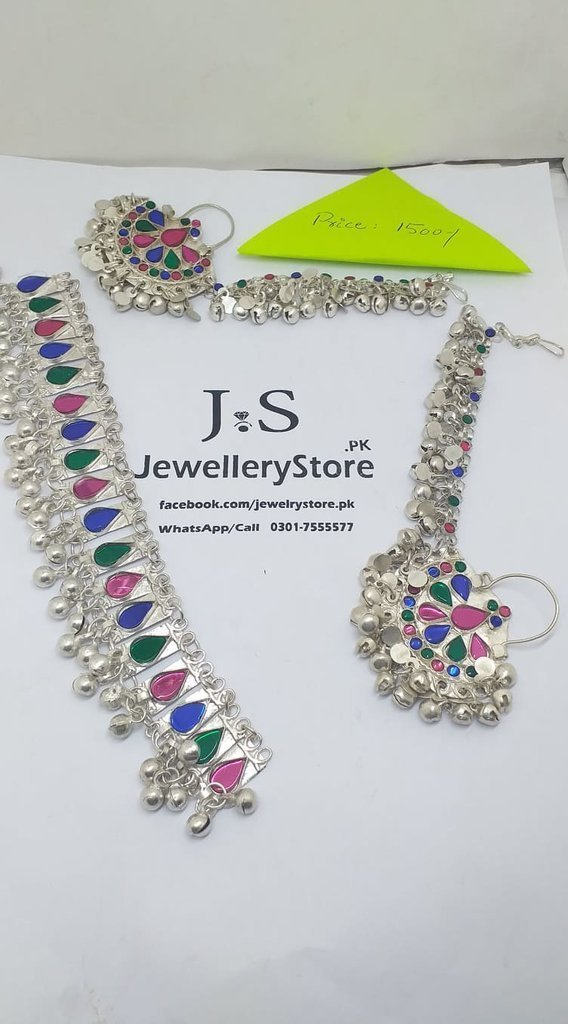 Trendy Afghani Sahara Earrings With Necklace in Pakistan